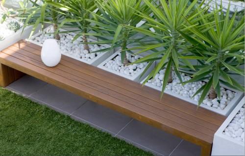 Una terraza de diseño moderno
