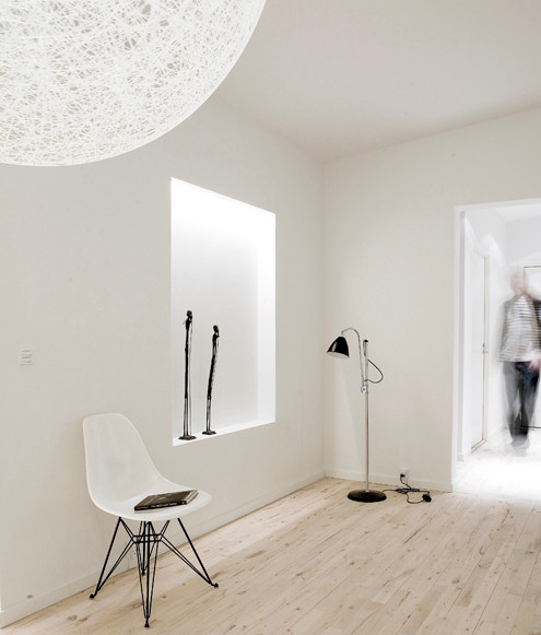 Living minimalista Penthouse Copenhague