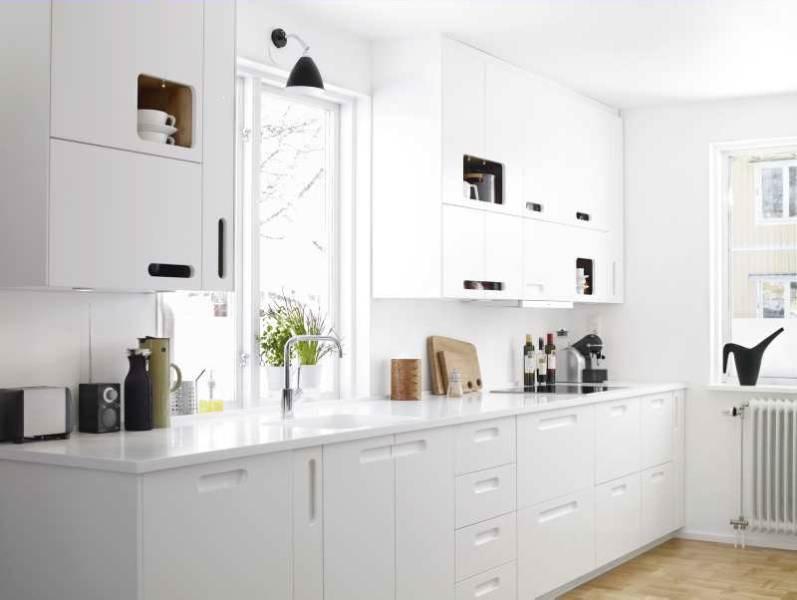 Originales muebles de cocina blancos - Cocinas de diseño moderno