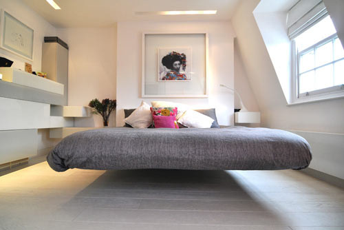3 ambientes modernos, cama moderna