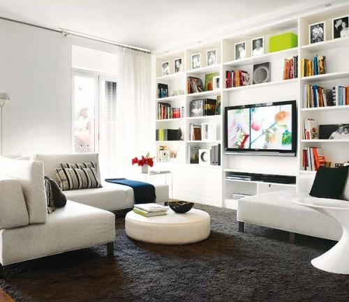 Living moderno hogar madrileño