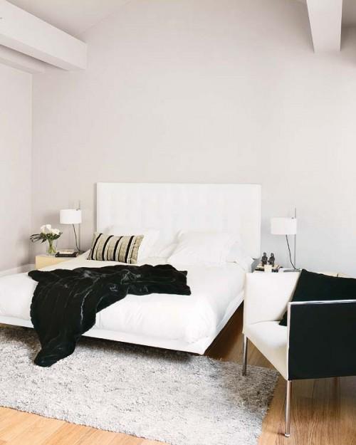 Habitación de lineas modernas en Madrid