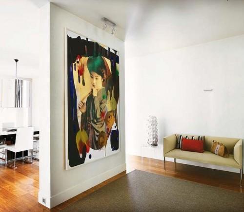 Arte en hogar madrileño