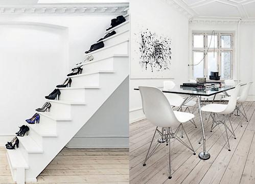 Interiores departamento minimalista blanco