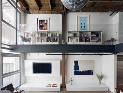 Loft moderno: living en doble altura