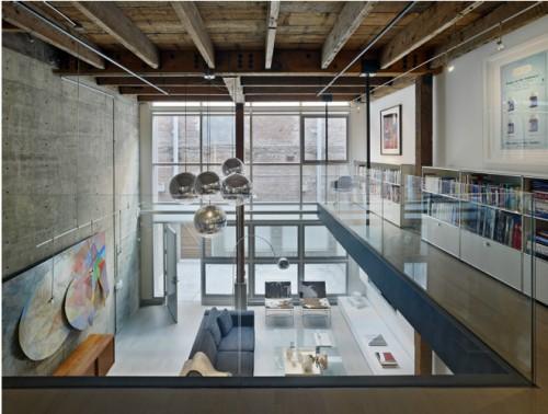 Living moderno doble altura loft