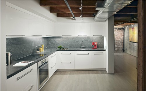Cocina diseño moderno en loft