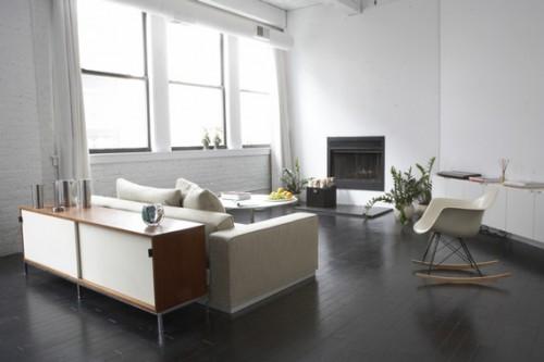 Muebles de diseño clásico en loft moderno