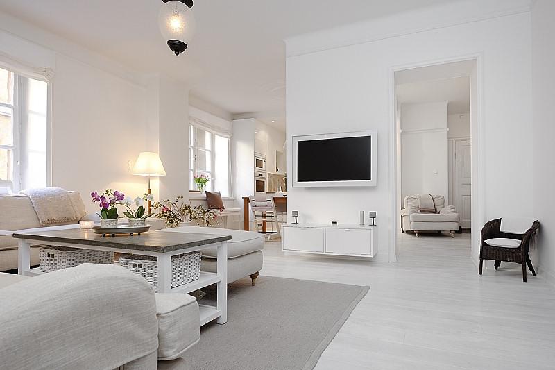 Estilo moderno en blanco absoluto apartamentos modernos for Casa moderna total white