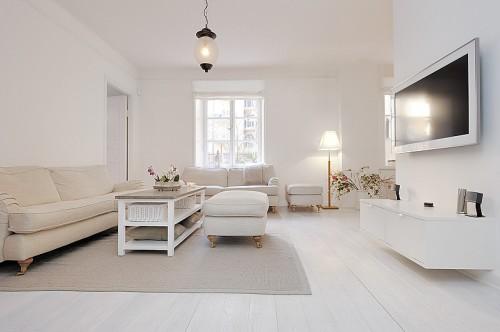 Moderno apartamento blanco absoluto