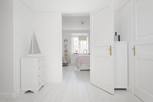 Habitacion apartamento moderno blanco absoluto