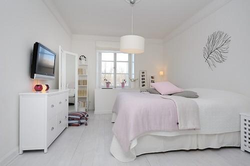Decoracion moderna habitacion en blanco