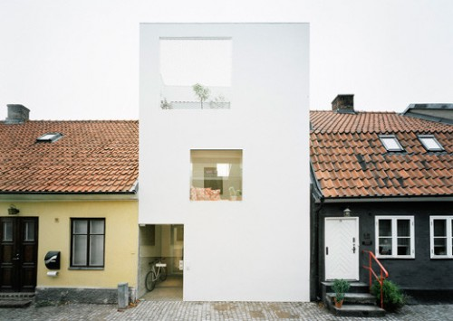 Fachada casa de estilo loft