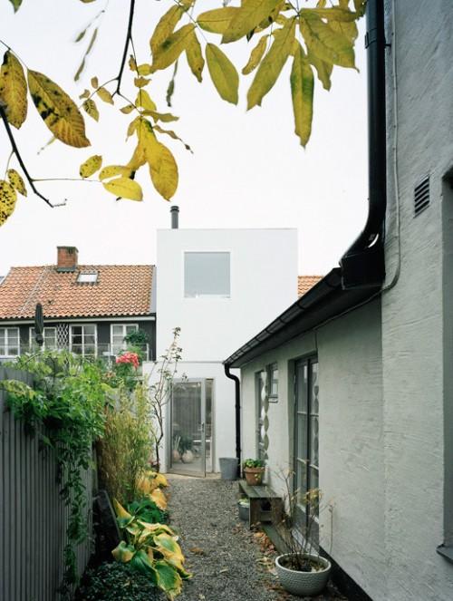 Vista exterior de casa estilo loft