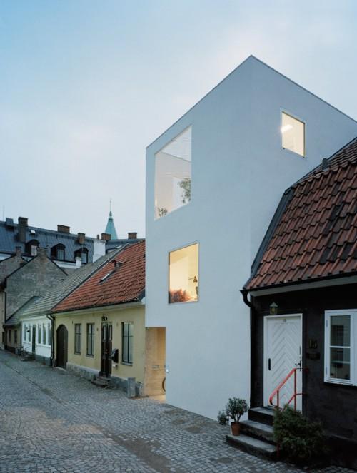 Fachada moderna casa de estilo loft