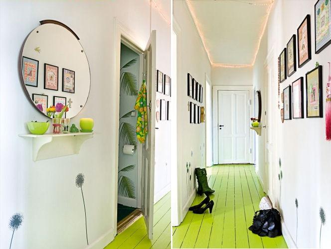 Interiores de un departamento peque o en estilo retro for Departamentos decorados estilo vintage