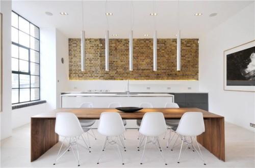 Departamento con diseño de interiores contemporáneo: comedor diario