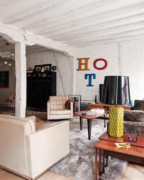 Muebles clásicos modernos en el living