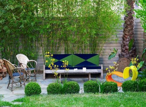 Espacio de reunión en el jardin