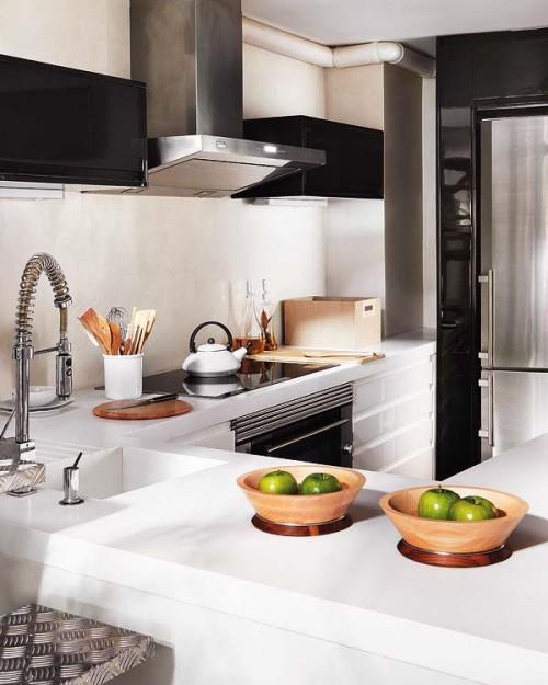 Cocina en duplex estilo loft