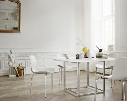 Comedor minimalista estilo clásico
