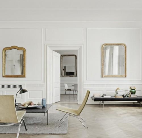Decoración minimalista en estilo clásico