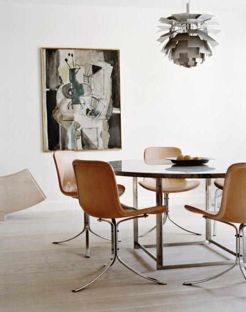 Diseño de interiores minimalista con estilo clásico