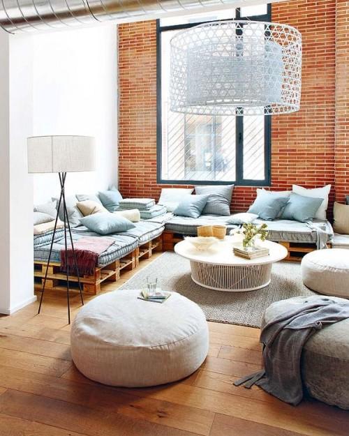 Living loft estilo industrial