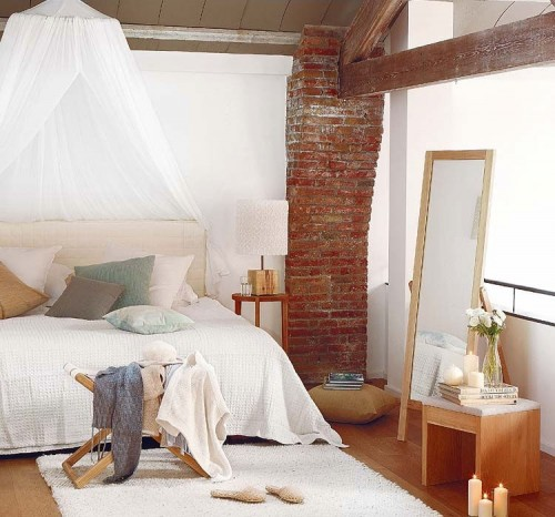 Dormitorio loft industrial