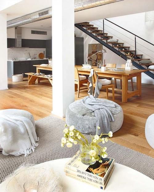 Comedor loft estilo industrial