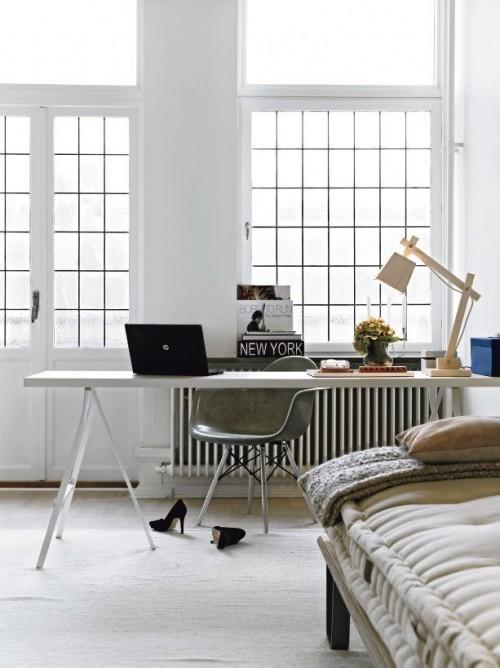 Escritorio con muebles de Ikea