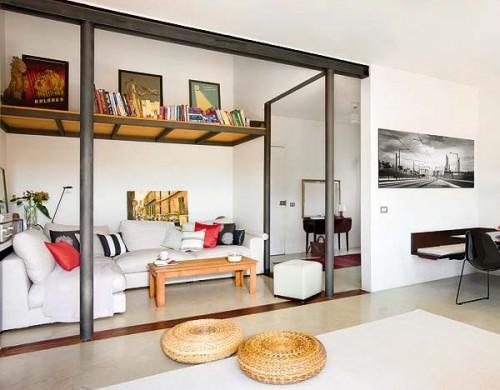 Interiores de un loft moderno
