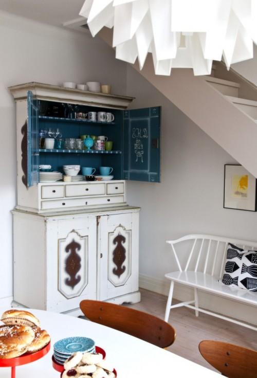 Mueble vintage en el comedor