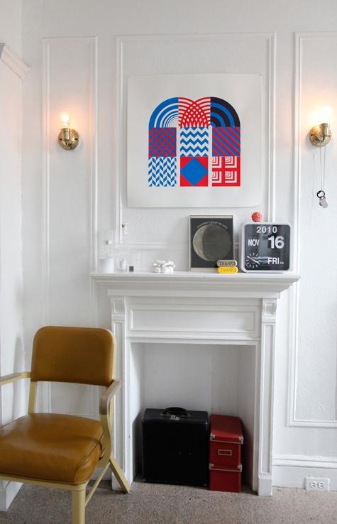 Interiores de una departamento Vintage