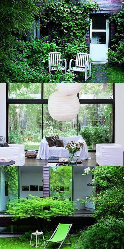 Casa con decoración moderna donde el interior se integra al exterior