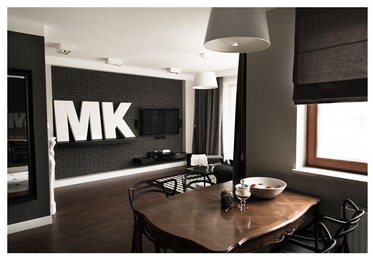 Interiores de un departamento en blanco y negro for Departamento decoracion interior