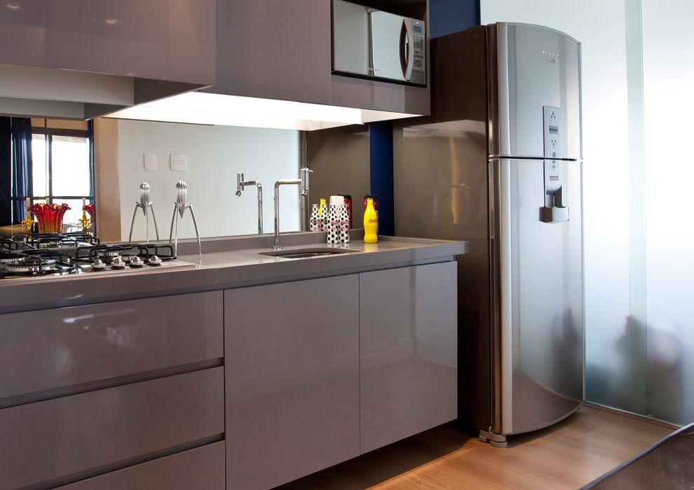 Departamentos peque os modernos 45 m en san pablo for Cocinas pequenas modernas y funcionales