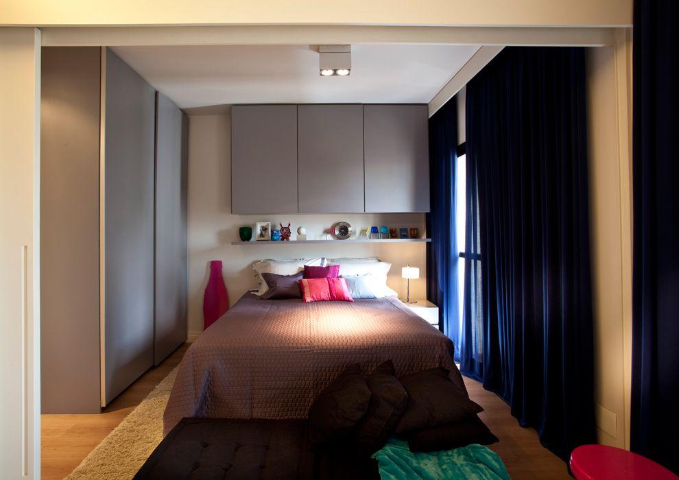 Departamentos peque os modernos 45 m en san pablo for Diseno de interiores espacios reducidos