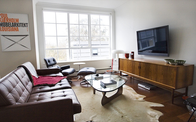 Decoraci n departamento sencillo con dise o en cada metro for Diseno de interiores diseno contemporaneo