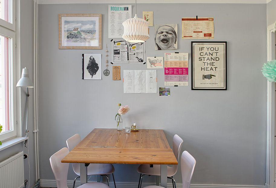 Departamento de 2 ambientes lleno de detalles y acentos de for Comedor diario decoracion