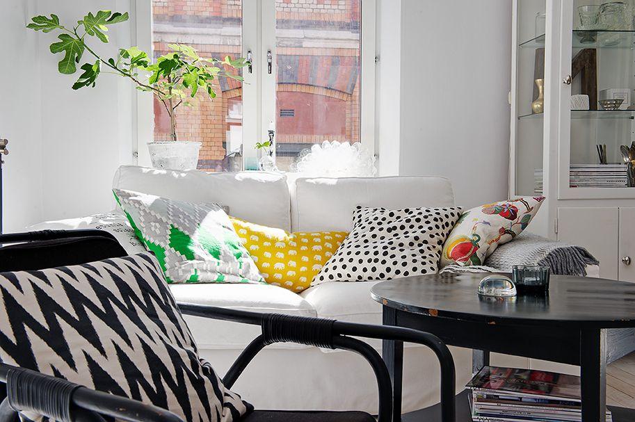Departamento de 2 ambientes lleno de detalles y acentos de for Decoracion living departamento 2 ambientes