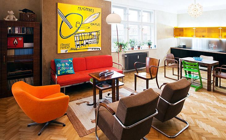 Departamento retro decoraci n de departamentos estilo retro for Departamentos decorados estilo vintage