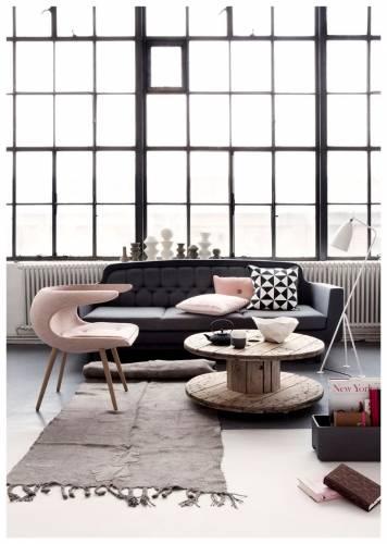 Colores de interiores modernos: rosa y gris 1