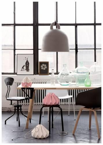 Colores de interiores modernos: rosa y gris 2