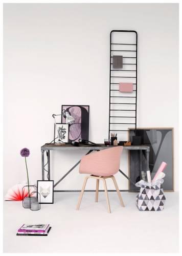 Colores de interiores modernos: rosa y gris 3