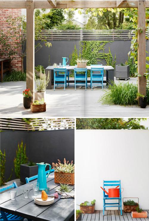 Colores para un jard n moderno for Jardines en espacios pequenos fotos
