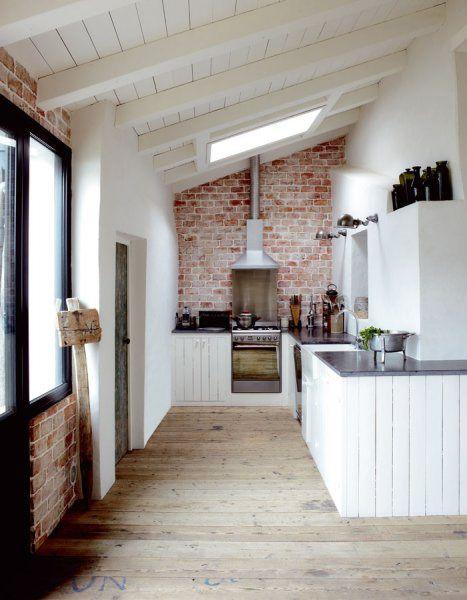 Cocina pared de ladrillo