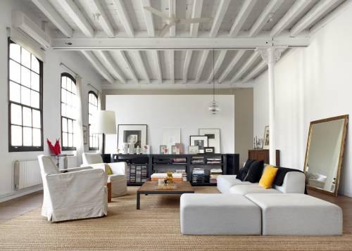 Living del loft moderno industrial