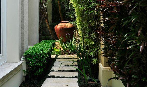Jardines pequeños y tropicales, detalles decorativos