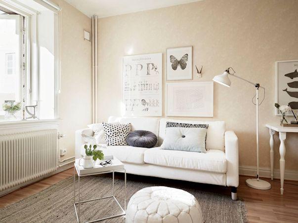 Monoambiente con decoración nórdica vintage 1